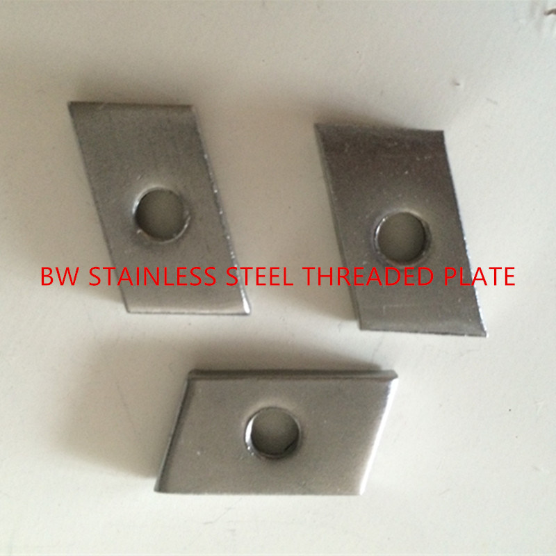 Stainless Steel Threaded Plate