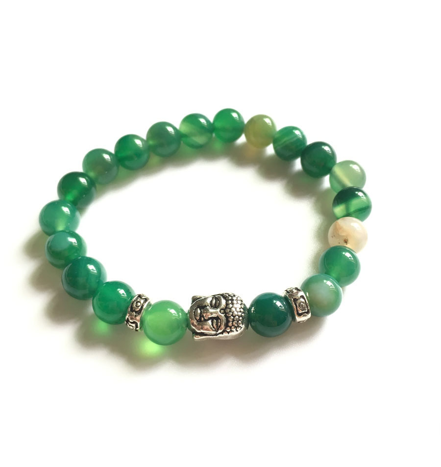 Fashion Crystal Agate Beaded Bracelet Jewelry (ESB012004)