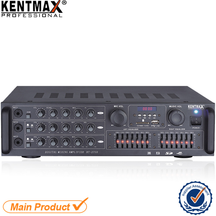 Digital Mixing Audio Power Amplifier with Bluetooth