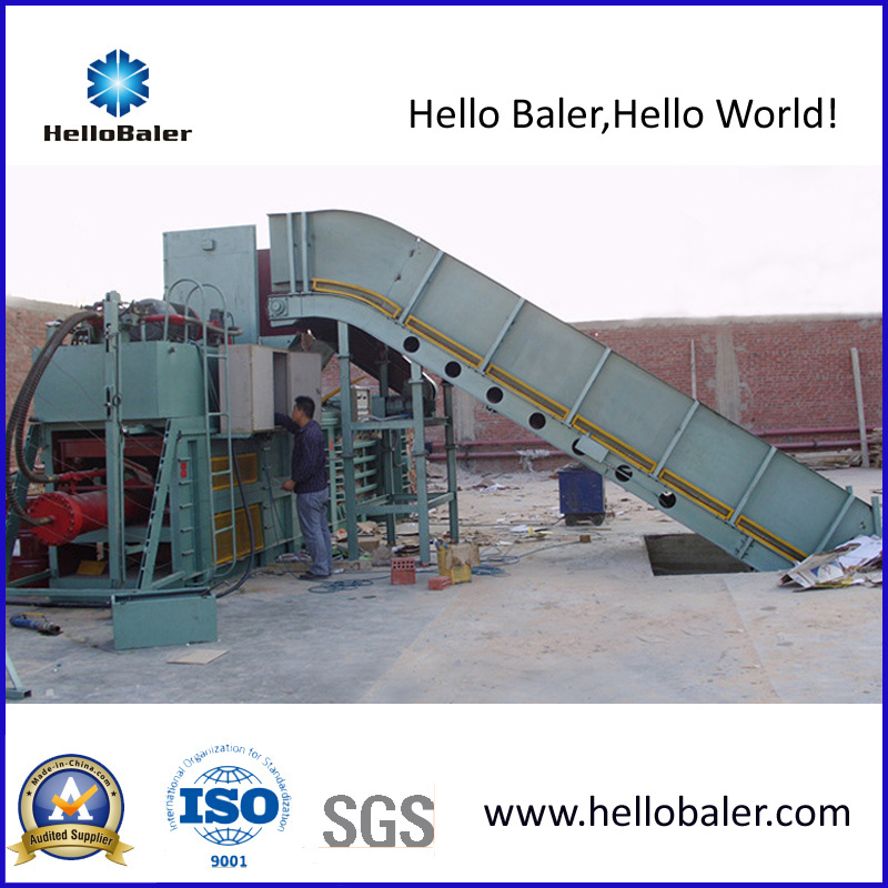 Hydraulic Automatic Waste Paper Baler with Conveyor (HSA7-10)