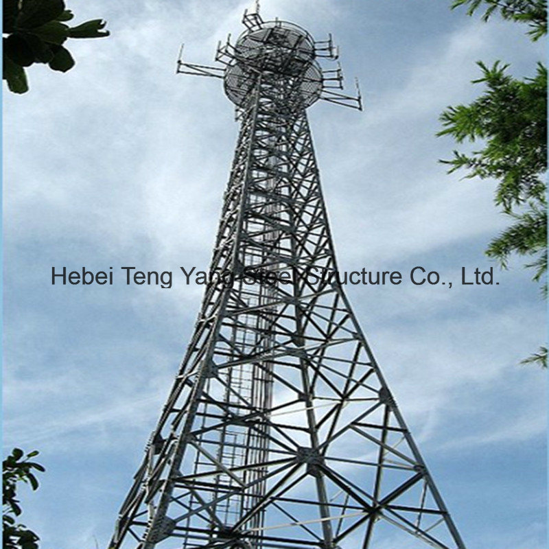 GSM Telecom 4 Legs Tubular Telecommunication Steel Tower