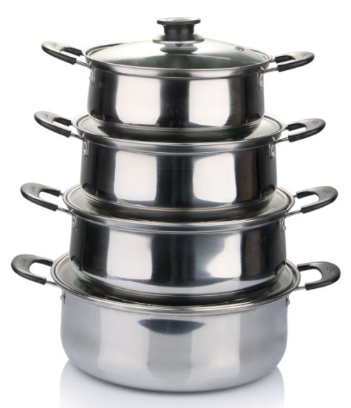 American Style Cookware Stainless Steel Pot with Bakelite Handle Cookware Set