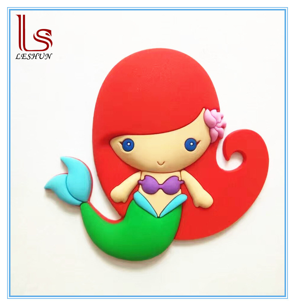 Amazon Hot Selling Custom Mermaid PVC 3D Fridge Magnet