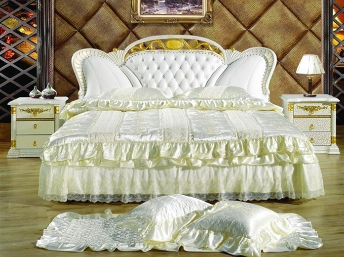 Nice Princess Leather Soft Bed, Bedroom Furniture
