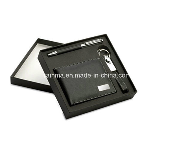 Business Promotional Gift Set with Key Chain and Wallet