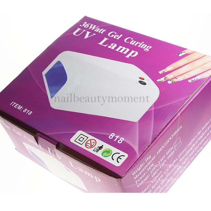 36W Nail Art Manicure Dryer UV Gel Lamp (L818)