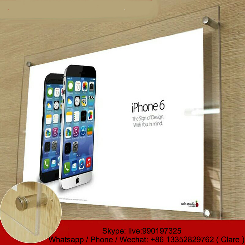 Clear A1 Wall Mounted Acrylic Poster Frame