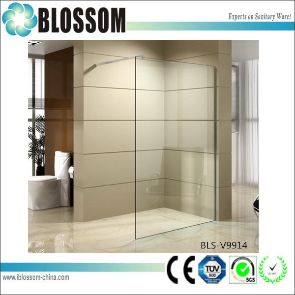 Tempered Nano Glass Walk-in Single Shower Door Adjustable Shower Wall