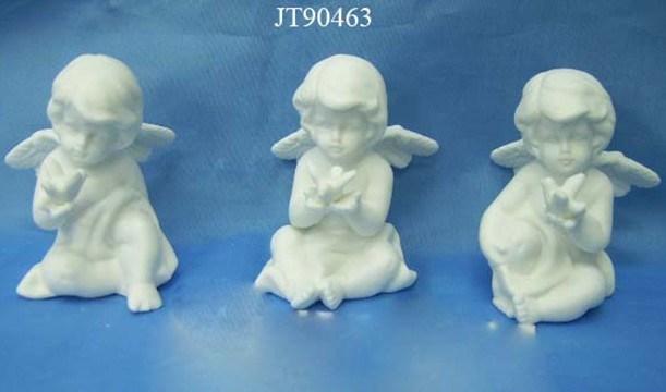 White Color Ceramic Cherubs
