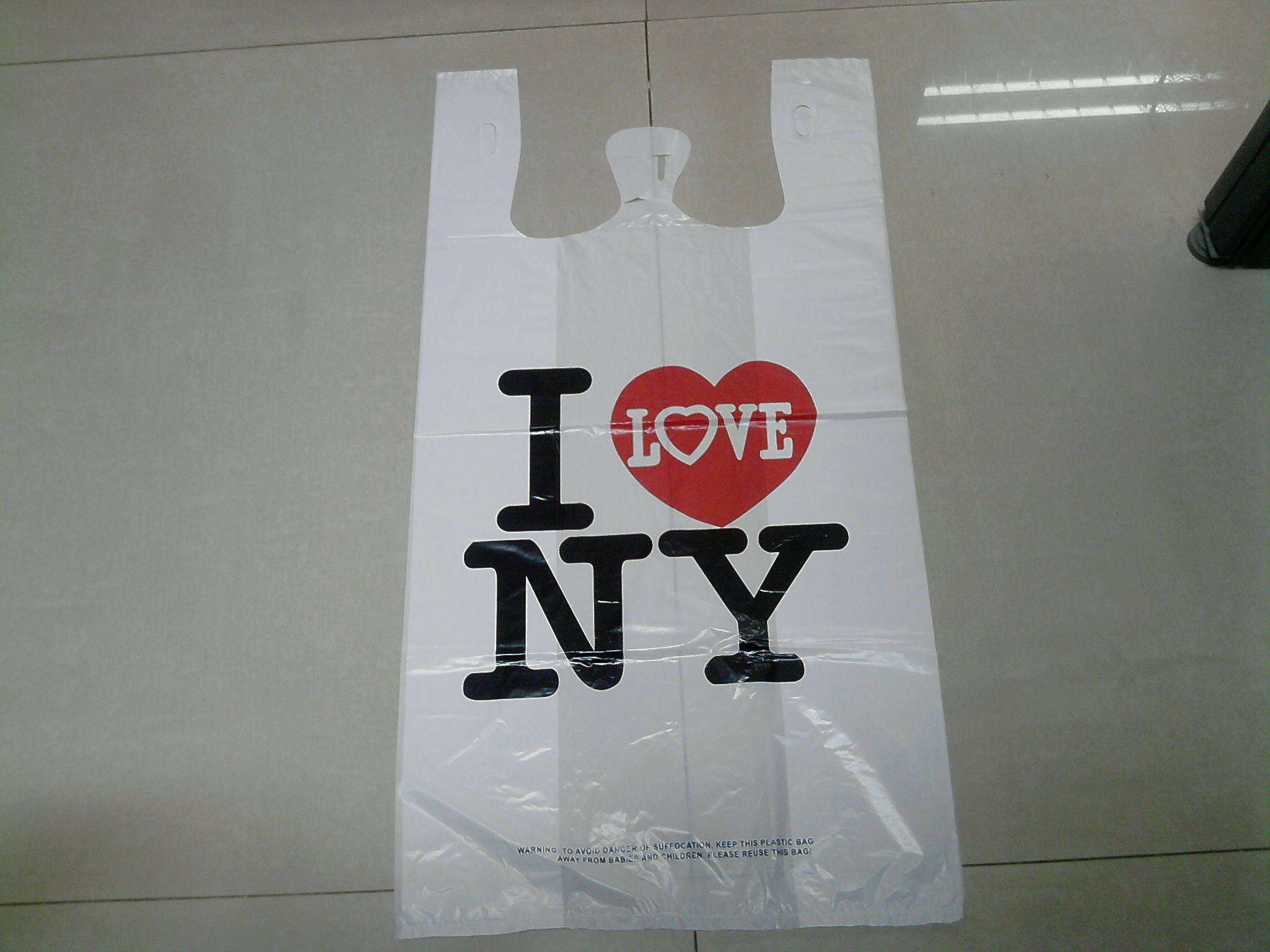 HDPE Plastic White T-Shirt Shopping Bag