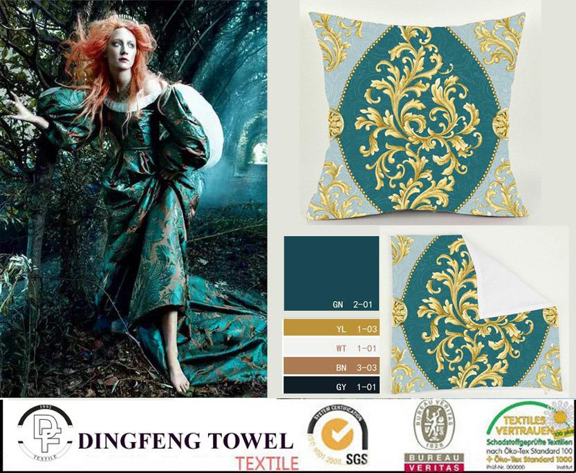 2016 Hot Sales New Design Velvet Cushion Cover Df-9828