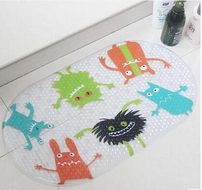 Wholesale Eco Friendly PVC Shell Printed Bath Rug