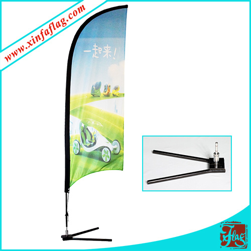 Polyester Feather Flags with Wheel Base