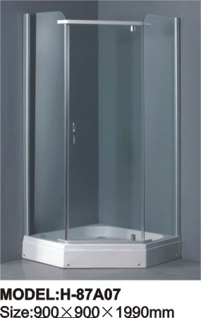 Simple Shower Room Tempered Glass Shower Screen
