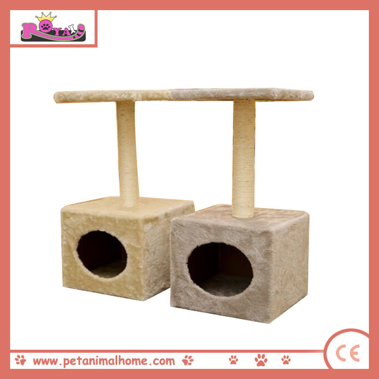 "24"" Small Cat Tree Playing Center Pet House in Grey or Beige"