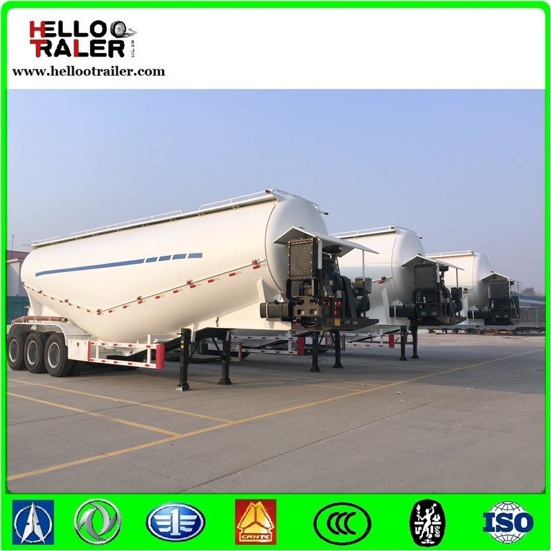 Golden 45cbm Dry Bulk Cement Trailer / Powder Transport Tanker Semi Trailer