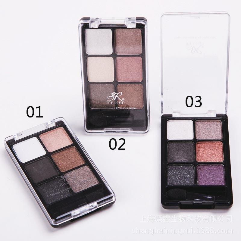 Professional 6 Color Glitter Waterproof Mineral Eyeshadow Palette Es0310