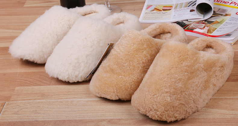 Australian Sheepskin Home Shoes Floor Slipper with Soft Sole