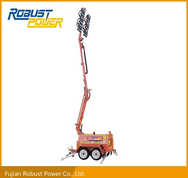 Rplt-7200 DC Dual-Axle Heavy-Duty Trailer LED Mobile Light Tower
