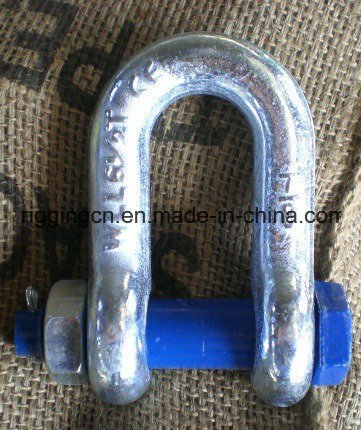 High Strength Forged Galvanized Alloy Steel Bolt Safety Marine Hardware Screw Pin Dee Shackle G-2150