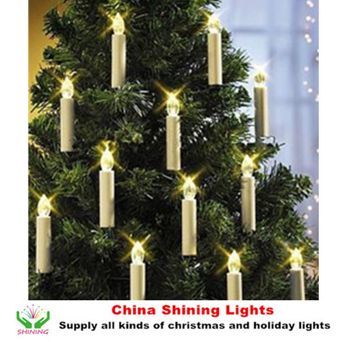 Christmas Tree Decoration LED Candle Lights Remote Control Wireless