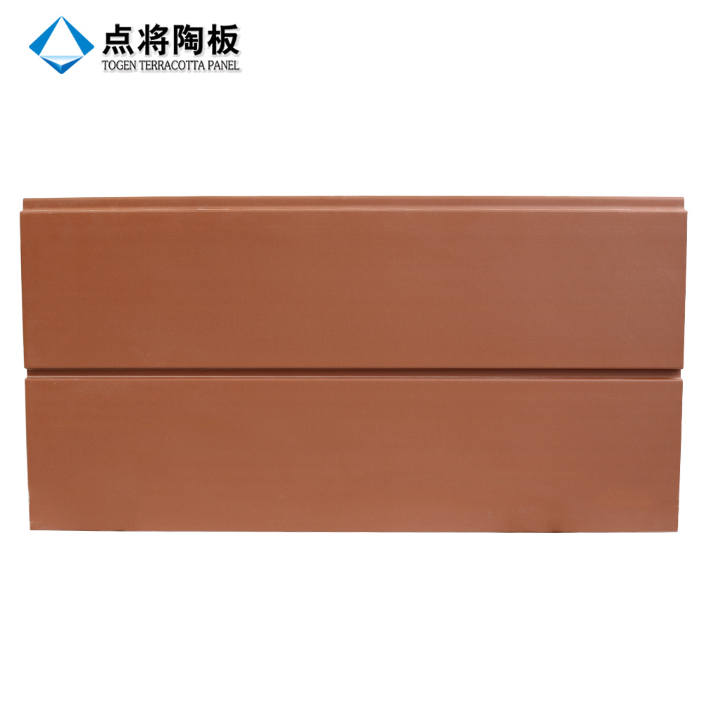 Ventilated Facade Rainscreen 18mm Terracotta Panel with Fixation Accessories