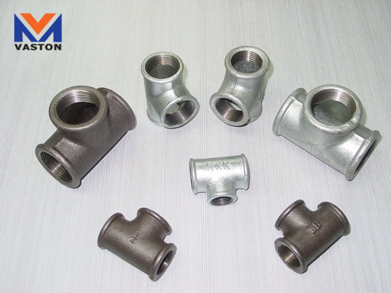 China malleable cast iron pipe fittings r tee