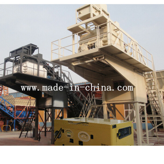 50m3/H Unique Technology Automatic Mobile Concrete Mixing / Batching Plant