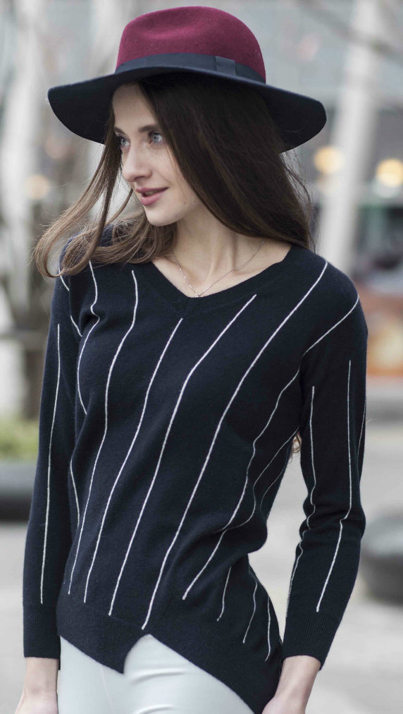 Ladies′ Fashion Cashmere Sweater (1500002061)
