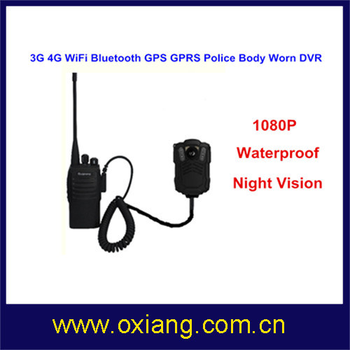 16MP 1080P Police Body Worn Video DVR 3G 4G WiFi