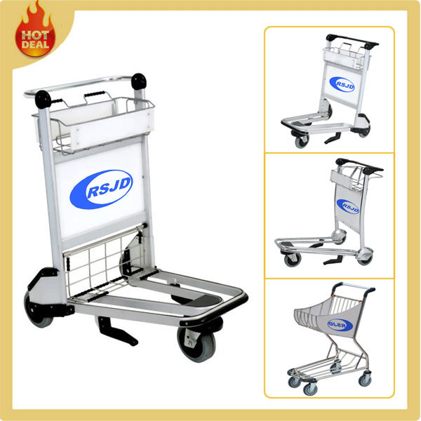 3 Wheels Aluminium Handle Airport Trolley with Brake (LG4)