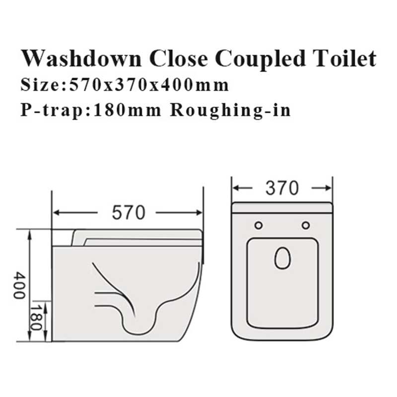 Watermark Bathroom Water Closet Sanitary Ware Ceramic Toilet