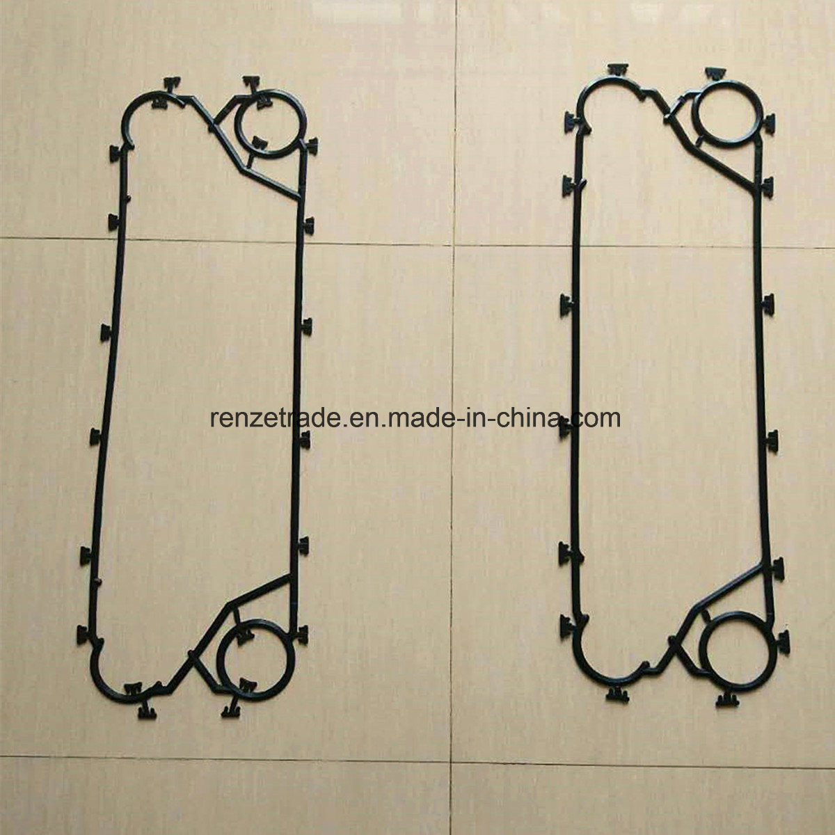 EPDM Flow Gasket for Plate Heat Exchanger Replacement for Alfa Laval Phe