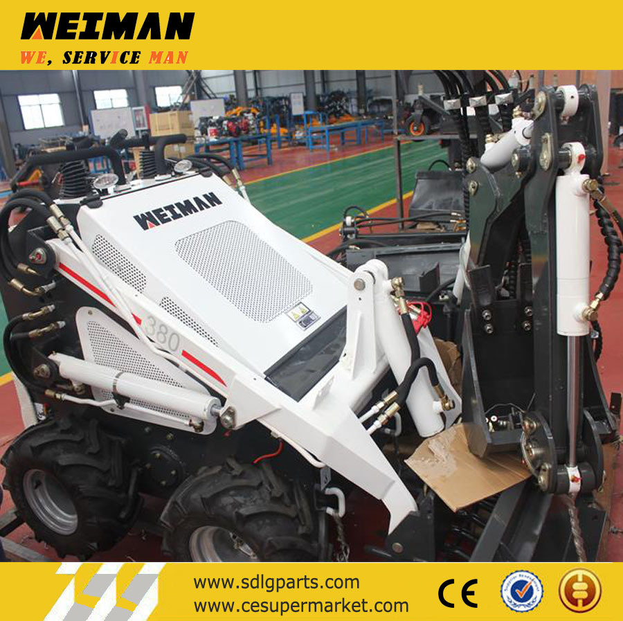 China Mini Skid Steer Loader Hy380 with 28HP Gas Engine
