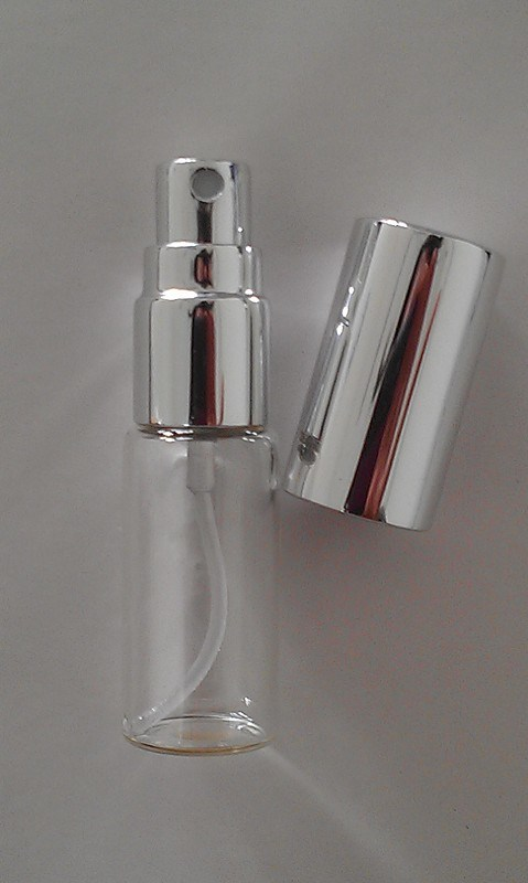 Clear Screwed Tubular Glass Bottle for Perfume Samples
