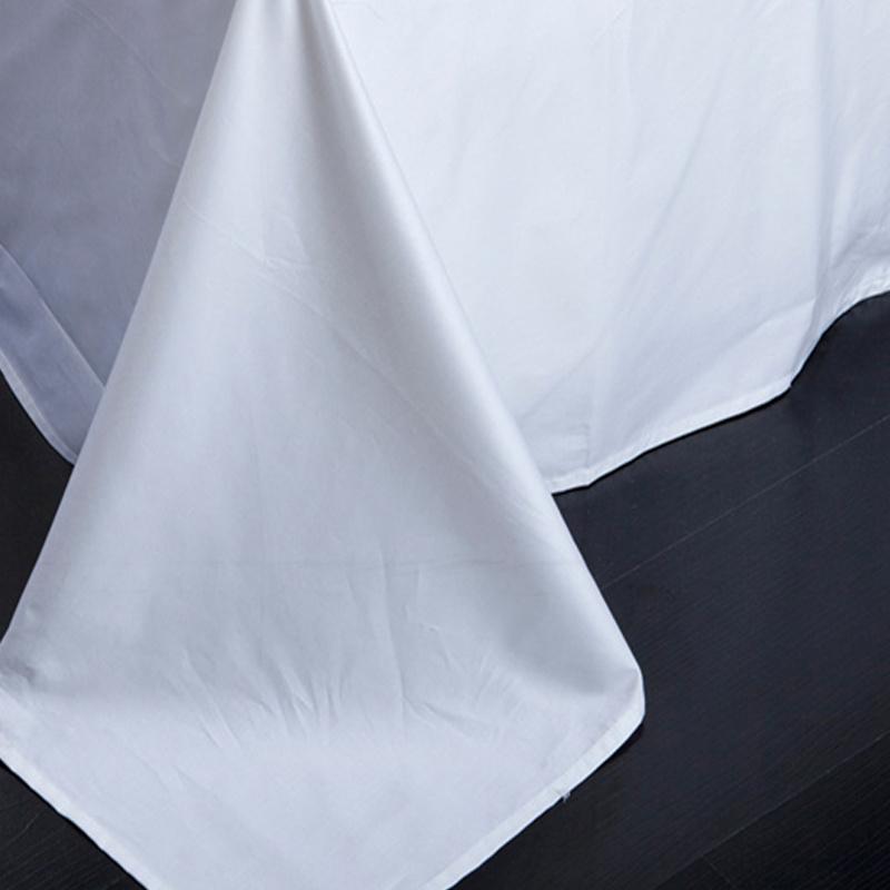 Cotton Hotel Bedding Set (BE-004) Manufacturer White Bed Sheet