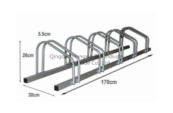 Outdoor Parking 5 Bicycle Floor Display Bike Rack