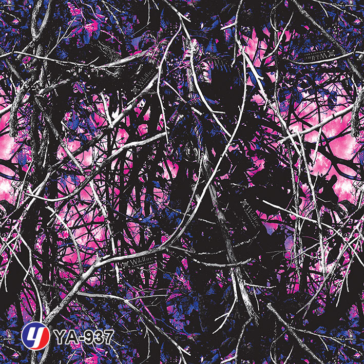Yingcai 1m Purple Camouflage Water Transfer Printing Hydro Dipping Film