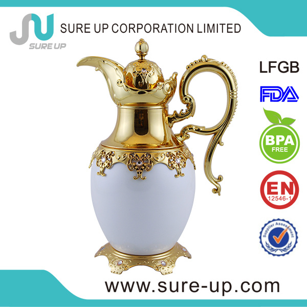 Honorable with Gold Handle Middle East Arabic Glass Liner Tea Jug (JGGS)