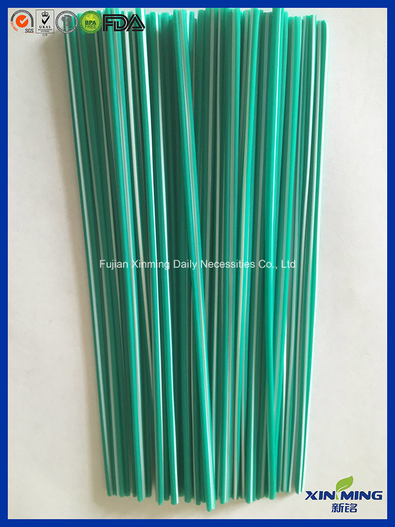 "7"" Brown Plastic Coffee Straw Stirrer, Swizzle Cocktail Stirrer"