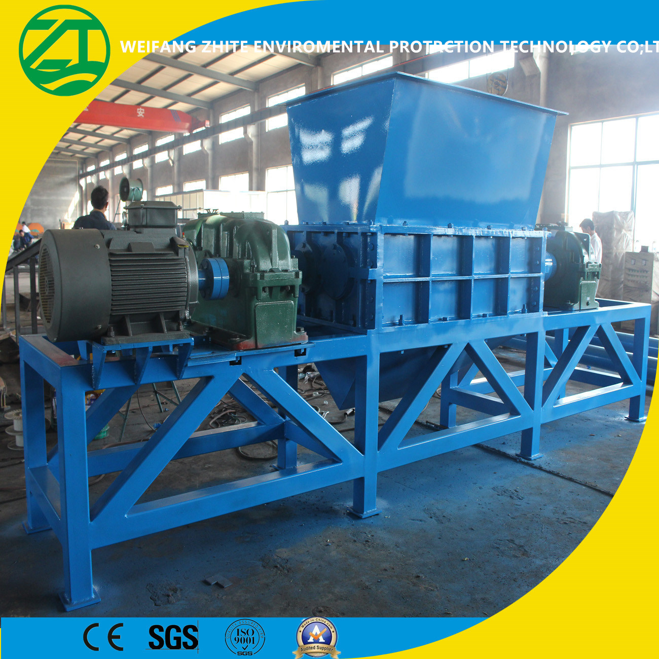Ce Approved High Quality Zt-1900 Four Shaft Shredder