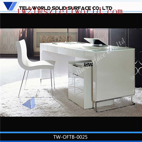 Cool Managing CEO Secretary Computer Desktop Chair White Glossy Executive Director Boss Manager Office Modern Desk Chair