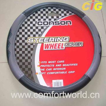 Wholesale PU+Suede Fabric+Sponge Car Steering Wheel Cover