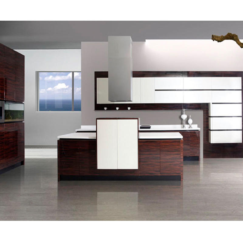 China Assembled Varnish Wood Veneer Kitchen Cabinet Photos Pictures