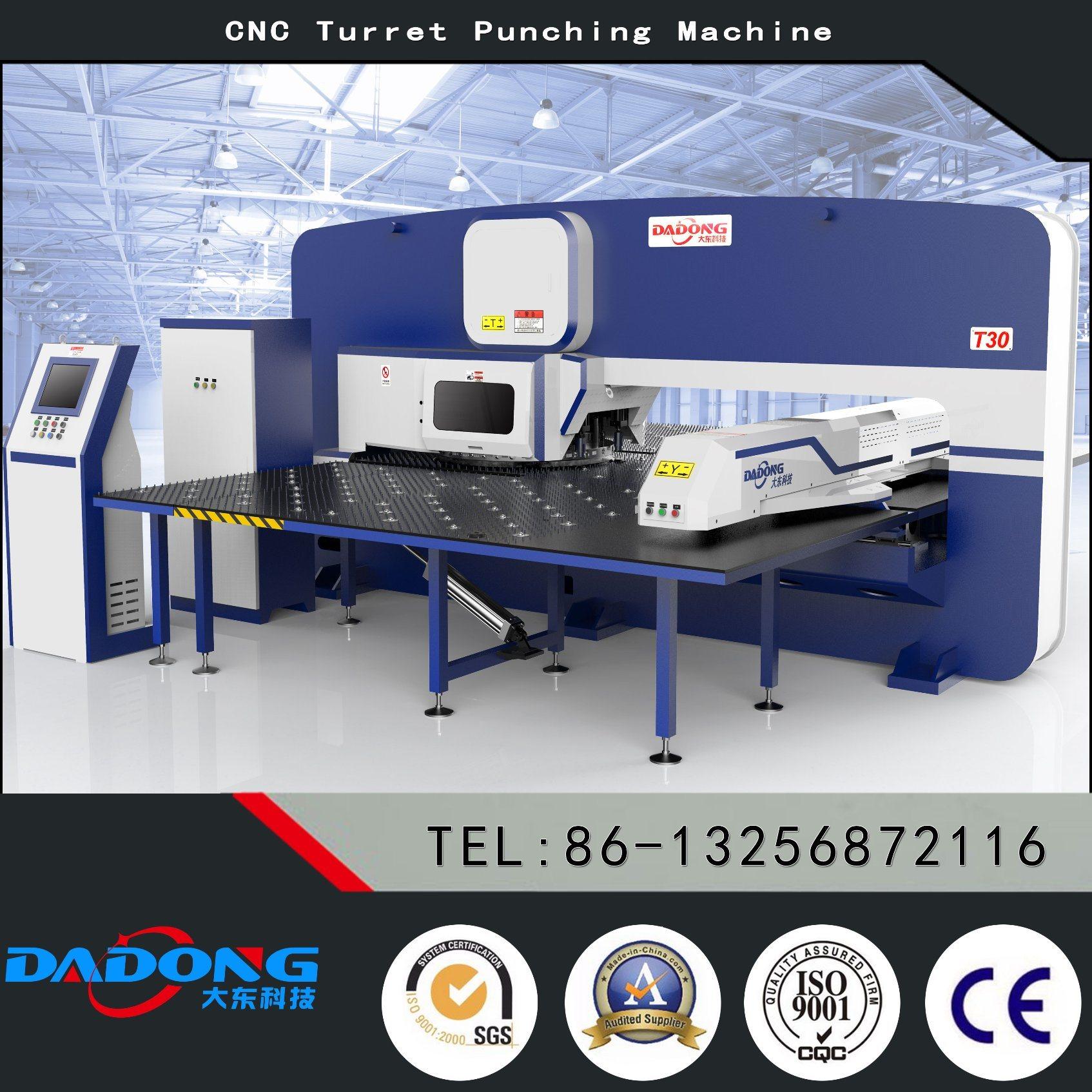 Dadong T30 CNC Turret Punch Press/Punching Machine/Stamping Machine for Punching Holes