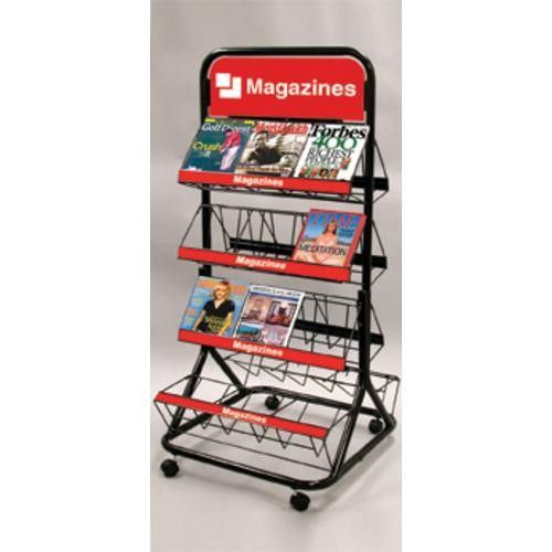 Two Sides Wire Magazine Display Rack (AD-0801-F)