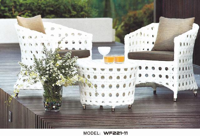 royal garden outdoor furniture white rattan cafe furniture wf221 11 photos pictures