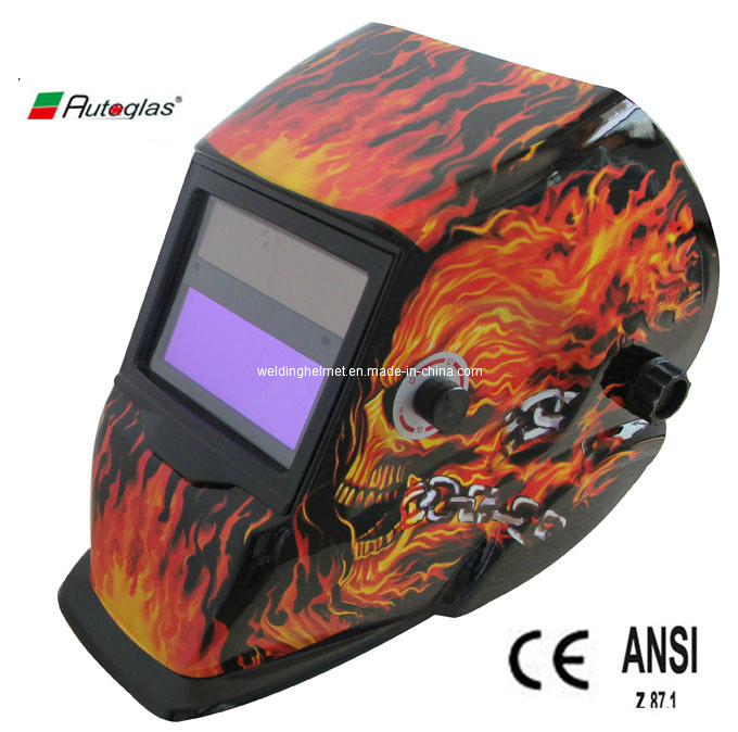 Designed with Flame/GOST/ Eagle AAA Battery Welding Helmet (B1190TB)
