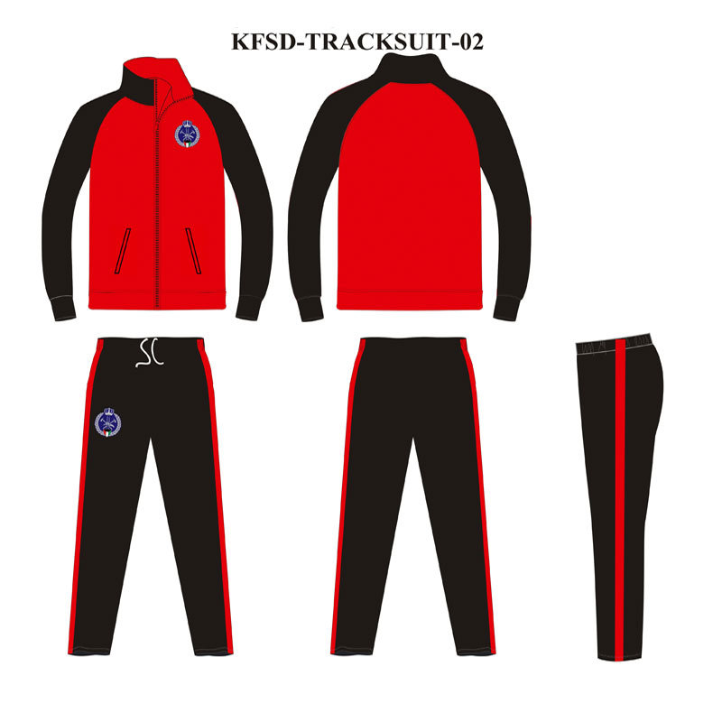 2 Colors Custom Tracksuit Cheap Price with Embroidery Badge