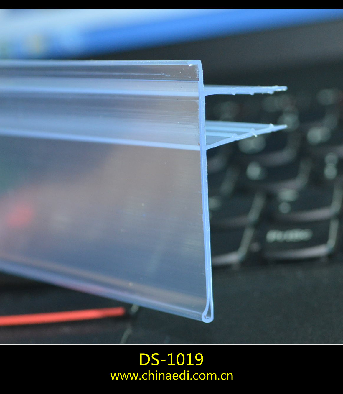 Glass Shelf Data Strip Talker Shelf for 12mm (DS-1019)